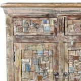 MOZAIK - meubles en frises de bois coloré