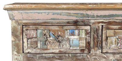 meubles mosaique bois coloré