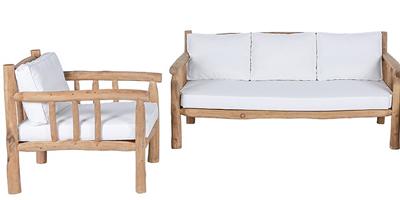 meuble bois flotté branche teck