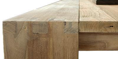 meuble bois contemporain fissure