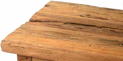 meuble bois recyclé brossé teck