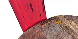 meuble métal et bois