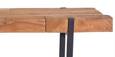 mobilier industriel bois massif et metal