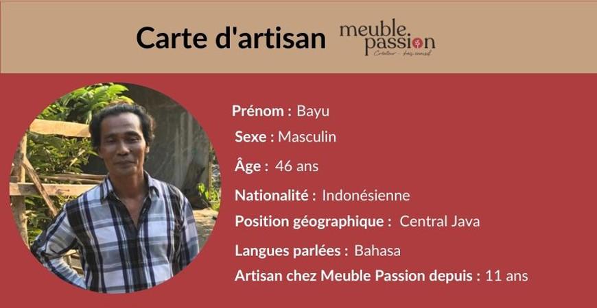Portrait d'artisan : Rencontrez Bayu !